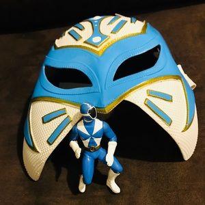 Blue Power Ranger Mask & Action Figure